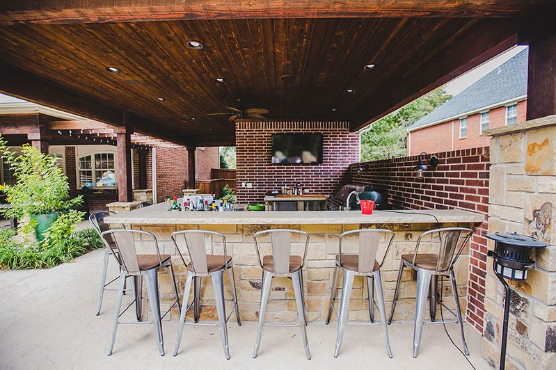 fort worth custom outdoor kitchen services panther city arbor patio