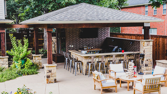 patio covers and gabled roofs services in Fort Worth TX