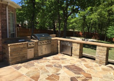 Outdoor Kitchen with Oklahoma Chopped & Chocolate Leuders - Southlake