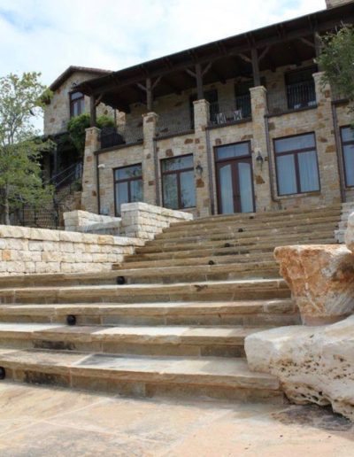 Oklahoma Flagstone Stairs - Possum Kingdom Lake