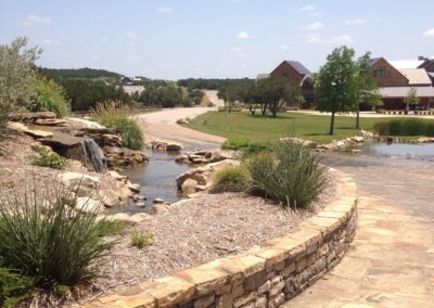 Stone Retaining Walls - The Harbor Possum Kingdom Lake