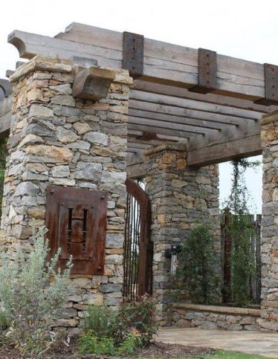 The Harbor Stone Column entry way - Possum Kingdom Lake